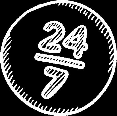 Icon Indicating 24x7 Service